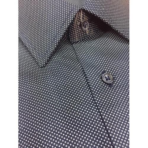 ca51a146b3ac Εμπριμέ πουκάμισο μπλέ πουά